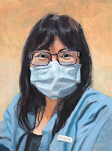 Laurie Simko painted frontline nurses during the pandemic