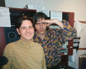 Tai Irwin and British singer-songwriter and guitarist Robyn Hitchcock at WFNX in 1996