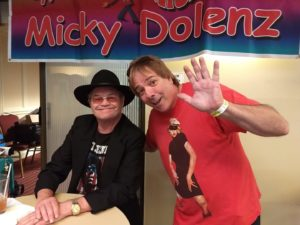 Micky Dolenz and Mick Lawless get together at the NorthEast Comic Con & Collectibles Extravaganza in Boxborough.