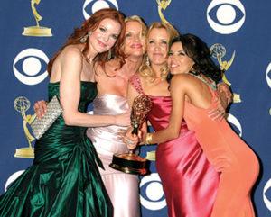 Marcia Cross, Nicolette Sheridan, Felicity Huffman and Eva Longoria at the Primetime Emmys 2005, Shrine Auditorium on September 18, 2005 in Los Angeles, CA