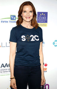 Actress Marcia Cross is a cancer survivor and advocate.