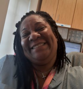 Dorchester medical assistant Delshan Eddins is all about making people smile.