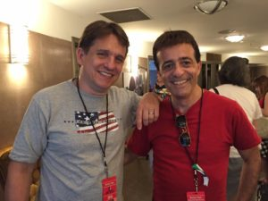 """Keith Lockhart and Jordan Rich are backstage during a rehearsal for the Fourth of July celebration """"Boston Pops Fireworks Spectacular."""""""