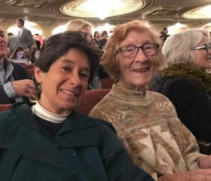 "Linda LeSage and Jean Beddow-Arnth attend the musical ""Hamilton"" in Boston. Their 60-year relationship has evolved."