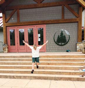 Ryder is joyful at the Windham Woods School.