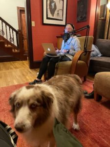 """""""Rock Opera"""" is a mix of genres offered by Mark Skin Radio's newest DJ, Kirsten Chervinsky. The music-loving nurse had quite the set-up when a guest on WMFO, but these days records from home, sometimes with a friend in attendance."""