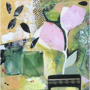 """Inner Peace"" -- mixed-media artwork by Giliane Bader"
