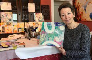 Well-traveled artist Giliane Bader