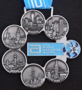 Dan Milton's Abbott World Marathon Majors medal