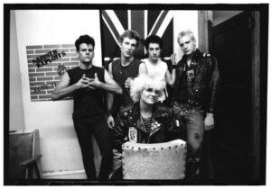 Nancy Barile with the Philadelphia punk band she managed, the Sadistic Exploits Photo/Lisa Haun