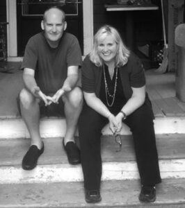 Nancy Barile today with an old friend from her punk days Ian MacKaye, of Minor Threat and Fugazi Photo/submitted