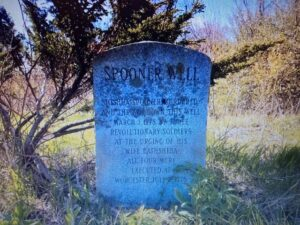 Marker at the site of Joshua Spooner's 1778 murder in Brookfield