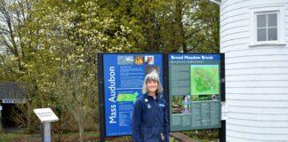 Deborah Cary at Mass Audubon/Broadmeadow Brook in Worcester Photo/Melanie Petrucci