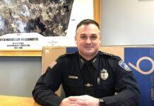 Marlborough Police Chief David Giorgi explains how Internet fraud targets older adults. Photo/Vicki Greene