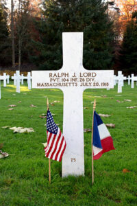 Ralph J. Lord rests at the Aisne-Marne American Cemetery in Belleau, France.