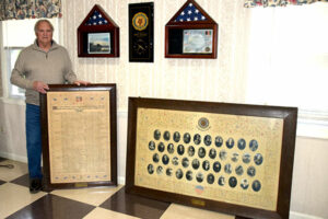 Two large frames memorialize Marlborough's World War I veterans and were found in the attic of the American Legion.