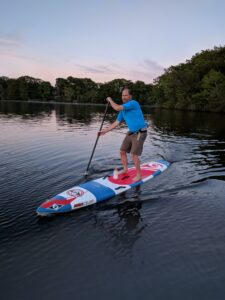 John Levy of Charles River Canoe and Kayak says paddleboarding puts him into a Zen state of mind Photo/submitted