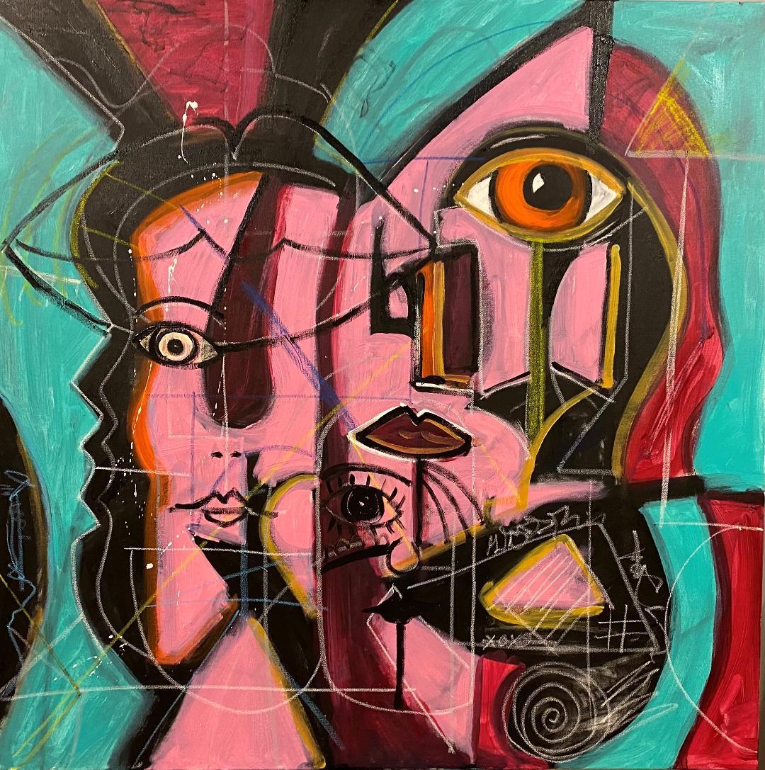 """Distortion"" – acrylic on canvas. 24"" x 36"" Image/Stephen Beccia"