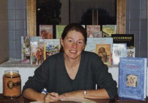 Jackie French Koller signs copies of her books