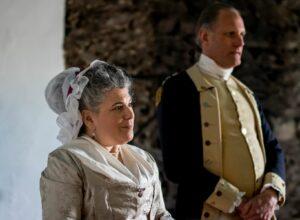 Sandy Spector as Martha Washington with her reenactor partner John Koopman III as George Washington