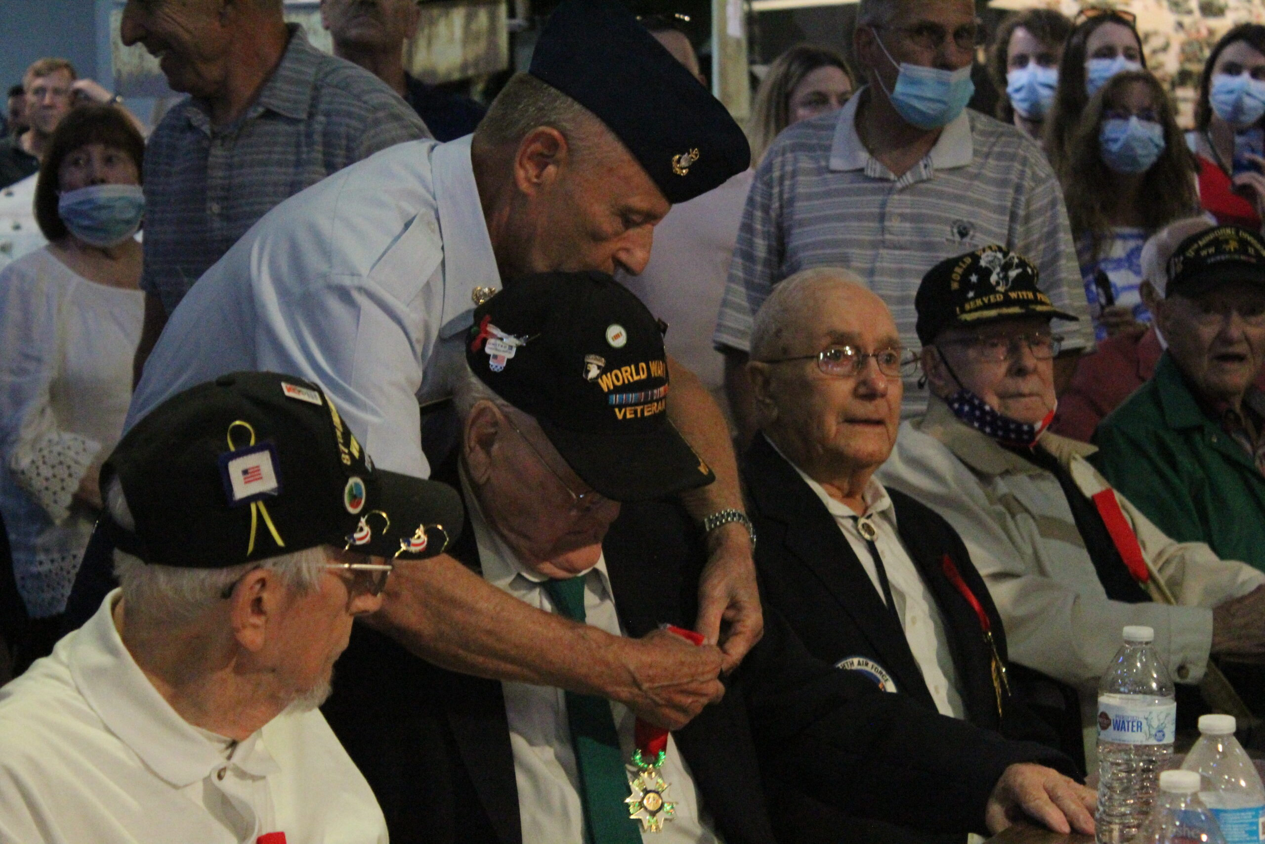 A veteran receives the French Legion of Honor.