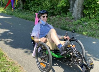 Recumbent tricycles are becoming especially popular with older adults. Photo/Helen Kahn, All Out Adventures