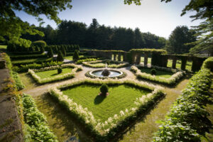 The Italian garden at The Mount, whose grounds and buildings were deeply influenced by Wharton's extensive travels in Europe. Photo/John Seakwood