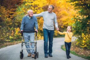 Many older adults over 50 care for both aging parents and children.