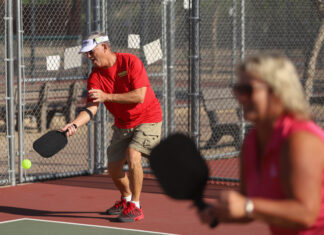 Pickleball has become a very popular sport with active older adults. Photo/Steve Taylor