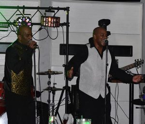 Robert (left) and Lance Williams perform at the Angry Ham's Grill in Framingham. Photos submitted.