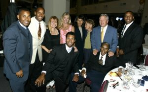 Burton Family in 2003 with New England Patriots owner Robert Kraft