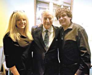 Cha-Chi Loprete and his wife, Stephanie Loprete at the Hanover Theater in Worcester with Tony Bennett