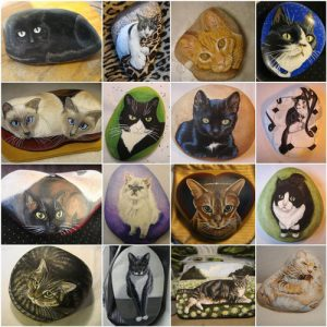 Pet portraits and memory rocks