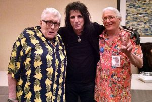 (l to r) Singer and toy dealer Chris Farlowe, heavy metal musician Alice Cooper, and Gary Sohmers Photos/submitted