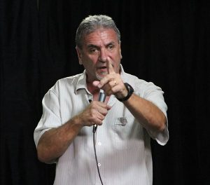 Jerry Caruso performs stand-up comedy. Photos/submitted