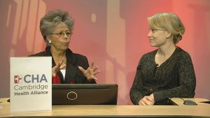 """Roberta Robinson interviews urologist Dr. Heidi Rayala about prostate cancer on """"Health is Wealth."""" Photos/submitted"""