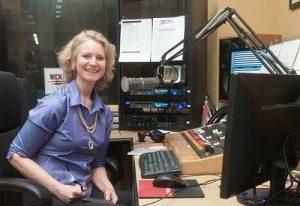 Pamela Hines at WICN studio