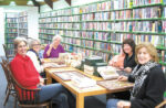 Marta Burbeck (far left) with members of the Puzzle Club at Stow Library