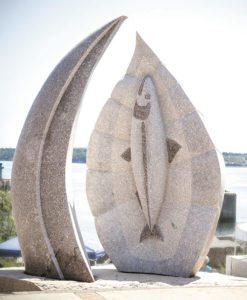 The Maine Sculpture Trail has 34 outdoor arts works located along 273 miles of coastline.