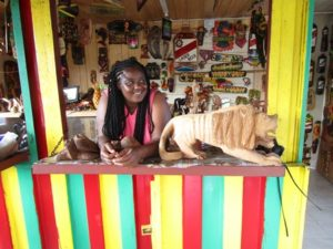 One of the island's many souvenir vendors Photos/submitted