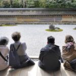 People at Ryoanji Temple Zen Garden, Kyoto