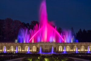 Longwood Garden illuminated fountains